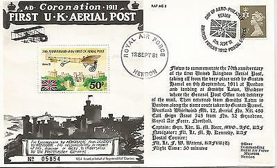70th ANNIV OF FIRST UK AERIAL POST RAF 1981 HENDON COVER REF 143
