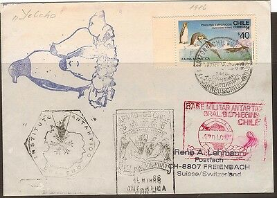 Chile:1986:Antarctica Military Base Ship Cover