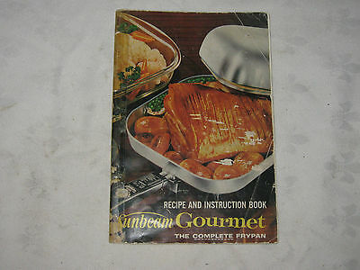 Vintage 1961 Sunbeam Complete Frying Pan Recipe & Instructional Recipe Booklet