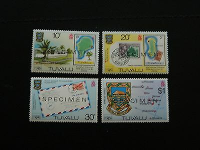 Tuvalu Stamp SG 143/46 set 4 MNH overprinted SPECIMEN issued 1980 values to $1.
