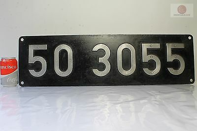 ORIGINAL Placa ferroviaria locomotora a vapor 50 Lokschild Dampflok antique sign