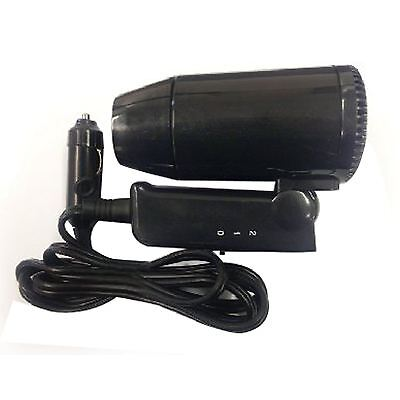 12V Compact Hair Dryer Portable Camping Caravan Motorhome Window Defroster