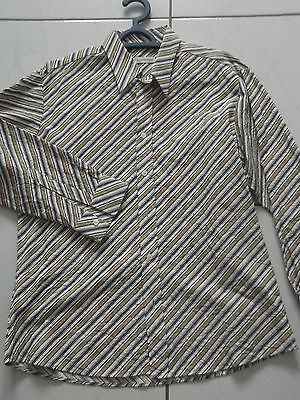 chemise rayée, manches longues, taille L