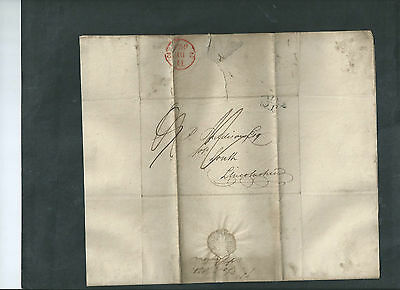 GB 1820 QV WAX SEALED LETTER & ENVELOPE  TO LOUTH POSTMARK 2nd DEC 1821