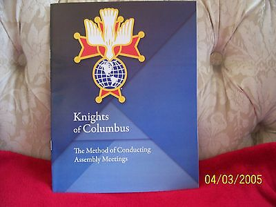 KNIGHTS OF COLUMBUS - Method of Conducting Assembly Meetings 16 pages 8.5 x 11