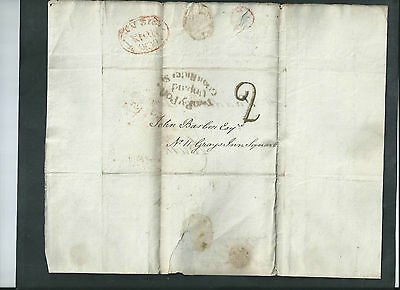 GB 1812 QV WAX SEALED LETTER &  ENVELOPE  DATED 13th MAY 1812