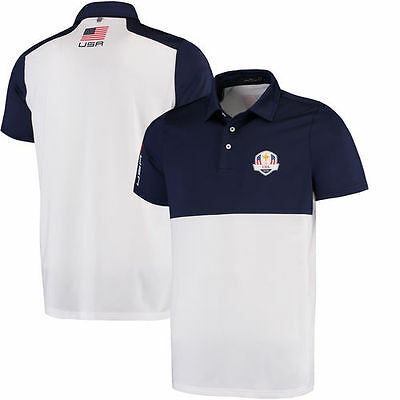 RLX 2016 Ryder Cup Sunday Active-Fit Jersey Polo - Navy - Golf