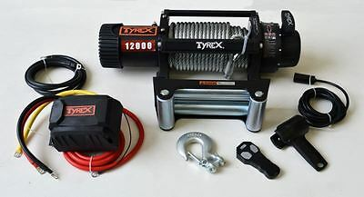 Raptor 4x4 Tyrex 12000lb Winch Wire Rope 'Black Edition' Recovery Off Road