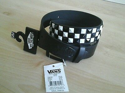 New vans black and white spikes kids belt, 24-26 inch waists, new with tags