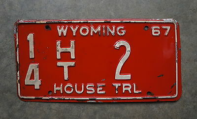 1967 Wyoming House Trailer License Plate # 14 - 2