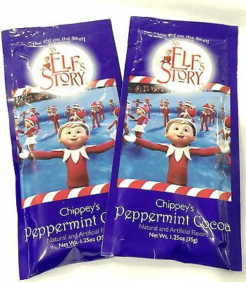 Elf On The Shelf An Elf Story Chippey's Peppermint Hot Chocolate Cocoa Mix 2 Pk