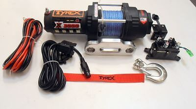 Raptor 4x4 Tyrex Winch ATV 3000 Synthetic Rope Off Road Recovery
