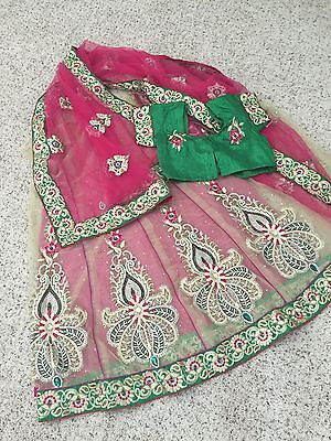 Bollywood Indian Ethnic Pakistani Designer Lahnga Sari Wedding Party Wear Saree
