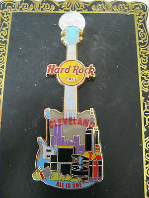 HRC Hard Rock Cafe Cleveland City T Tee Guitar Vxx