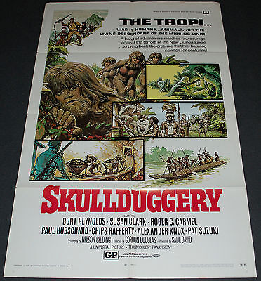 SKULLDUGGERY 1970 ORIGINAL 27x41 MOVIE POSTER! BURT REYNOLDS FANTASY ADVENTURE!