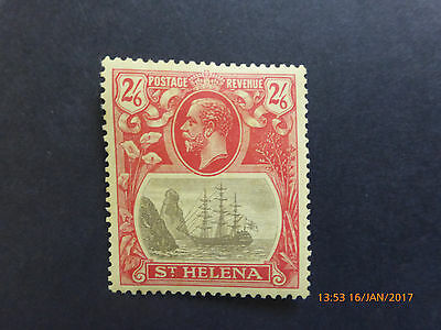 ST. HELENA KGV SG109 2/6d GREY & RED/YELLOW 1927 MH CAT £16