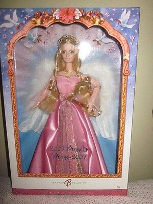Rare Canadian 2007 Angel Barbie Pretty In Pink Nrfb!!