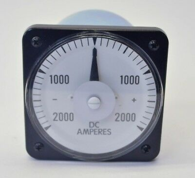 New Weschler Instruments 103-122-ABTM DC Ammeter Scale +/-2000 Type AB-16