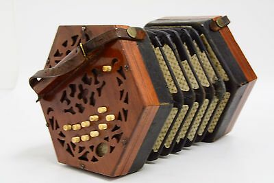 Late 19c Lachenal 20 Button Anglo Concertina in C/G (THS/AH8)