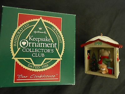 Our Clubhouse Collector's Club Hallmark Ornament from 1988