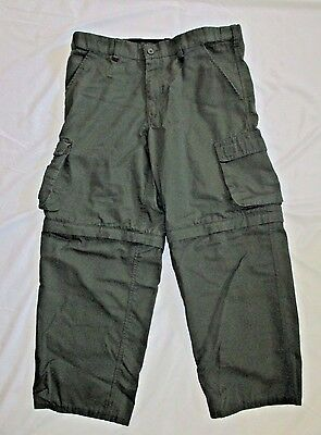 Official Boys Scouts Switchback Pants Youth Size 22 Woven Fabric