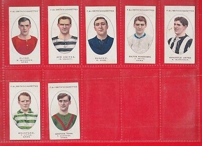 Smith's Cigarette cards, Football club records 1918. 7 cards