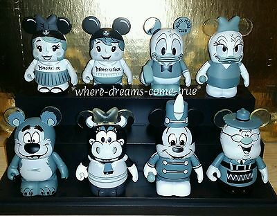 "Disney Vinylmation Mickey Mouse Club 3"" Set of 8 Including Donald Chaser."