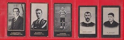 Smith's Cigarette cards, Footballers, cup tie 1902, 1914. 5 cards
