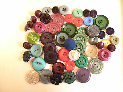 VINTAGE BUTTONS used and unused