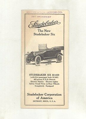 1915 Studebaker Six Touring Brochure ww5218