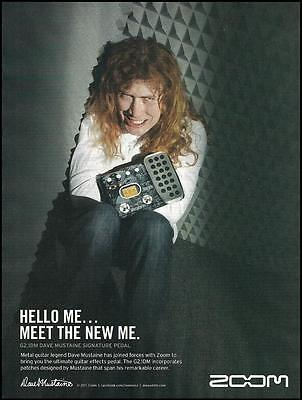 Megadeth Dave Mustaine Signature G2.1DM Zoom guitar effects pedal 8 x 11 ad