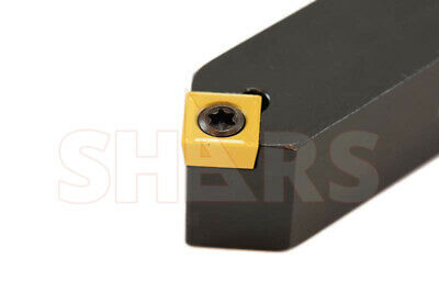 """Shars 5/8"""" X 4-1/2"""" Ssdcn R/l Indexable Turning Tool Holder Scmt New"""