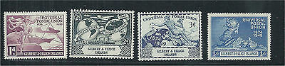 Gilbert & Ellice Islands 1949 UPU Set (4) MNH SG59/62