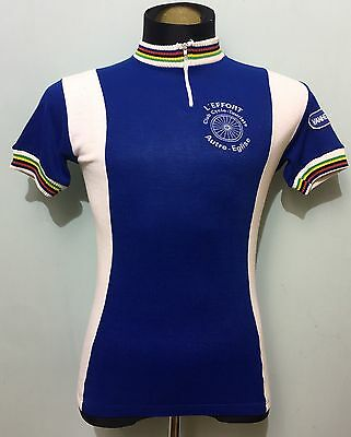 Vintage Wool L'Effort Club Cyclo-Touriste Autre-Eglise Cycling Jersey  Waterloo