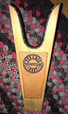 """Vintage ADVERTISING """"DURANGO BOOT"""" WESTERN BOOT JACK Wood/Leather Removes Boots"""