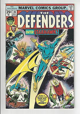 THE DEFENDERS #28, 1975, VF/NM CONDITION COPY  *1st Full Starhawk Appearance*