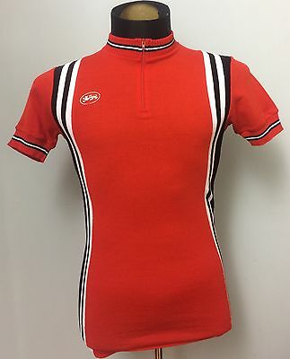 Vintage Wool Le Roc Red Cycling Jersey