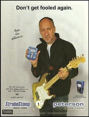 The Who Pete Townshend Buzz Feiten Tuner on Fender Stratocaster guitar 8 x 11 ad