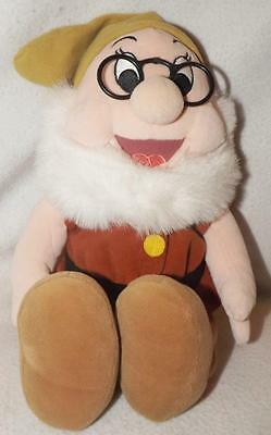 "Disney Store 12""  Doc Dwarf Plush From Snow White"
