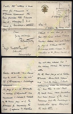 1888-89 Letters Royal Northumberland Fusiliers THE BARRACKS, Newcastle on Tyne