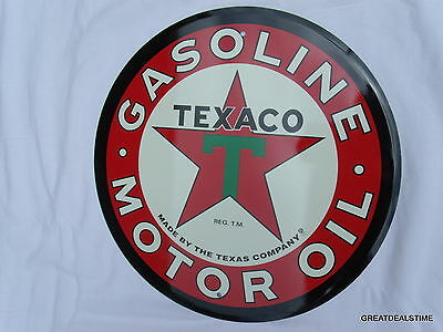 Texaco Motor Oil,gas Station Pump Sign Gasoline Old Vintage Style Signs