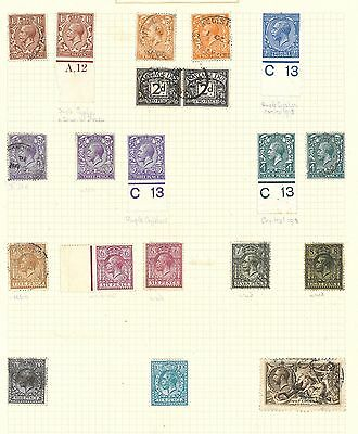 Lot:18454  GB GV  definitive stamps on album page with used and unused control m