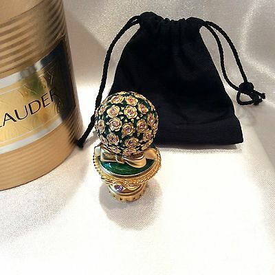 Estee Lauder PLEASURES Solid Perfume Compact Jeweled BOUQUET in Cylinder Box