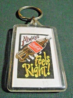 Coca Cola Feels Right Advertising Keychain