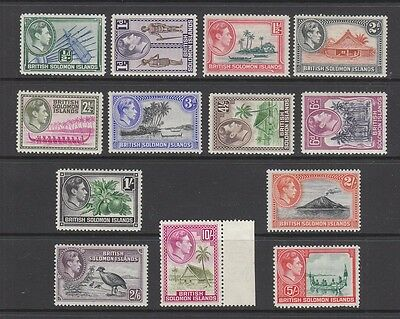British Solomon 1939-1951 Set MH (10/- is MNH ) SG60- 72