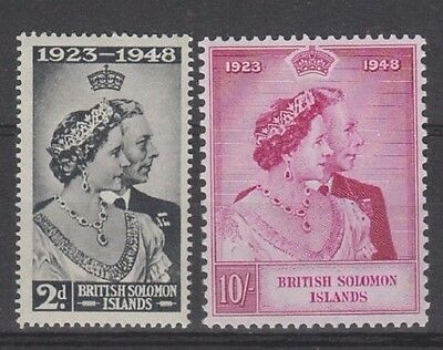 British Solomon 1949 Silver Wedding Set MH SG 75 ,76