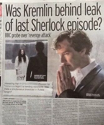 BENEDICT CUMBERBATCH SHERLOCK HOLMES Great Lot UK Mag/ News Articles/ Clippings