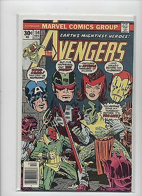 AVENGERS #154 Captain America Iron Man  (1976) Bronze Age 30 Cent VF (8.0)