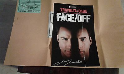 John Travolta Signed Autographed Photo Picture Face Off + postage envelope 2004