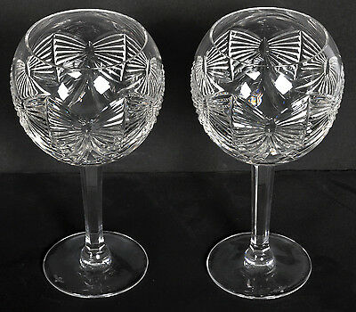 Two WATERFORD Millennium Series Happiness Toasting Wine Glasses Goblets